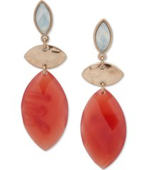 lonna & lilly gold-tone & stone linear drop earrings