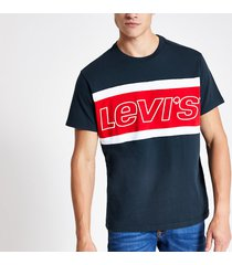 mens levi's navy block t-shirt