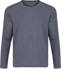camisetas khelf camiseta manga longa listras finas azul - kanui