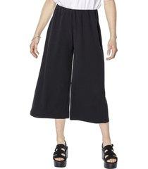 pantalon culotte negro mujer corona