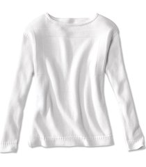 cotton/cashmere boatneck sweater