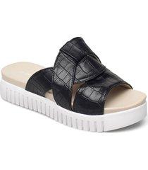 sandals shoes summer shoes flat sandals svart ilse jacobsen