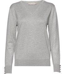 pullover-knit light stickad tröja grå brandtex