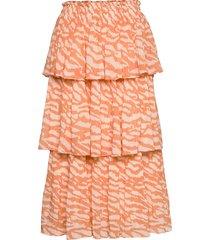 gloss malica skirt bz rok knielengte oranje bruuns bazaar