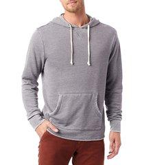 men's alternative school yard hoodie, size large - grey