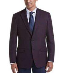 lauren by ralph lauren magenta & blue windowpane classic fit sport coat