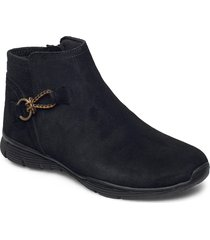 womens seager shoes boots ankle boots ankle boot - flat svart skechers