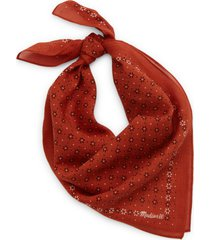 madewell bandana in rusty torch at nordstrom