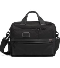 men's tumi alpha 3 small screen expandable laptop briefcase -