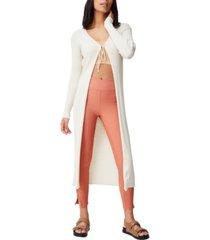 women's cotton vegetable dye ribbed longline cardigan