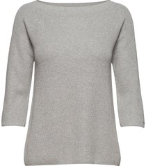 abbie off shoulder s t-shirts & tops long-sleeved grijs tommy hilfiger