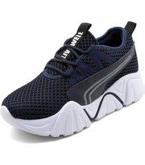 tenis moda dama sneakers tellenzi 2239- azul oscuro