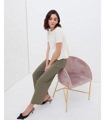 pantaloni cropped in viscosa