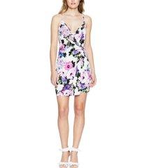 bcbgeneration twist-front floral-print mini dress