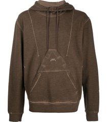 a-cold-wall* x diesel red tag acid wash hoodie - brown
