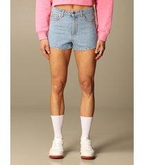 chiara ferragni short chiara ferragni denim shorts with flirting eyes bands