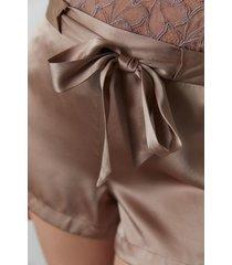 natori key silk shorts, women's, 100% silk, size xs