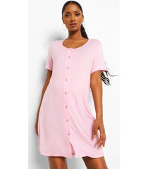 zwangerschaps nachtjapong met knopen, pink