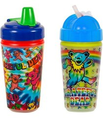 daphyl's 2-pack of grateful dead tie dye and dancing bear sippy and straw cups
