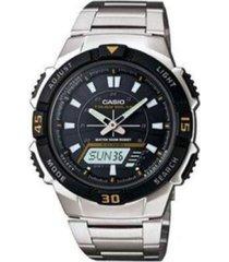 reloj casio aq_s800wd_1ev plateado acero inoxidable
