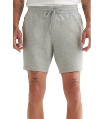 lucky brand patch icon shorts, size small in heather grey at nordstrom