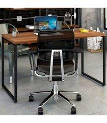 mesa para escritório office kuadra nogal 8397 - compace