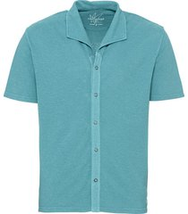 jersey overhemd met korte mouw en piqué-structuur, lagune s