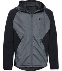 stretch-woven hooded jacket outerwear sport jackets svart under armour