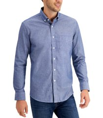 club room men's chambray cotton shirt, created for macy's