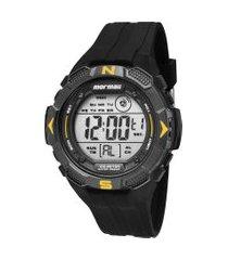 relógio digital mormaii masculino - mo29088y preto