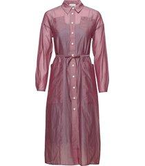 bethany cotton silk dress knälång klänning rosa wood wood