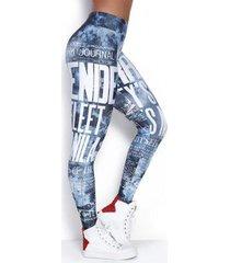 legging elastic ripped jeans