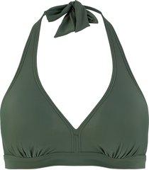 reggiseno per bikini con scollo all'americana (verde) - bpc bonprix collection
