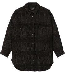 woven oversized shiny boucle jacket - 2102457856-999