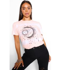 tie dye sun and moon t-shirt, orange