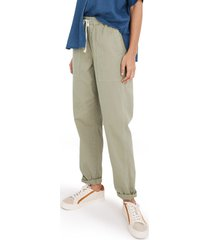 women's madewell relaxed pull-on pants, size xx-large - green