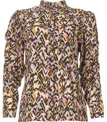 blouse met print rayur  multi