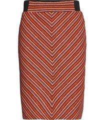 skirt multic knälång kjol röd tom tailor
