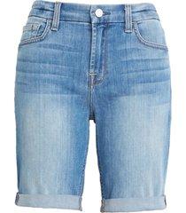 women's jen7 by 7 for all mankind high waist denim bermuda shorts, size 18 - blue
