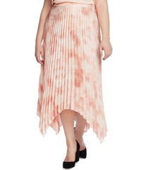 vince camuto plus size vapor whisper pleated skirt