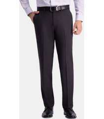 haggar men's premium comfort straight-fit 4-way stretch wrinkle-free flat-front dress pants
