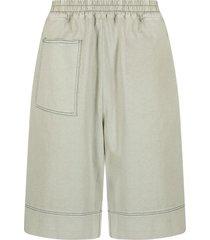 jil sander multi-pocket elasticated shorts - green