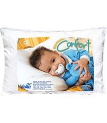 travesseiro  confort branco  com 1 peã§as - valle enxovais - branco - dafiti