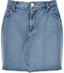 falda jean color azul, talla 8