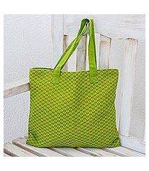 cotton tote bag, 'summer blooms' (guatemala)