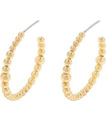 women's gorjana canyon beaded hoop earrings