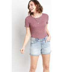 silver jeans co.® womens elyse light wash 4in shorts blue denim - maurices