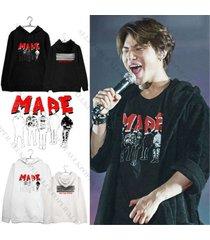 kpop bigbang taeyang cap hoodie made full sweatershirt gd g-dragon sweater coat
