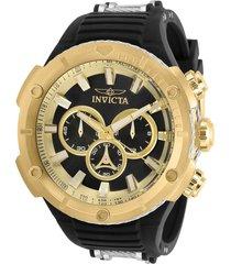 reloj invicta acero negro modelo 295nr para hombres, colección bolt