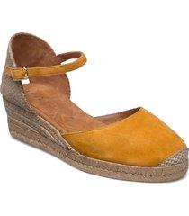 cisca_21_ks sandalette med klack espadrilles gul unisa